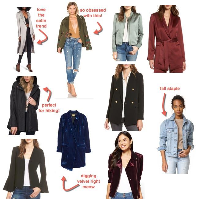 fall jackets