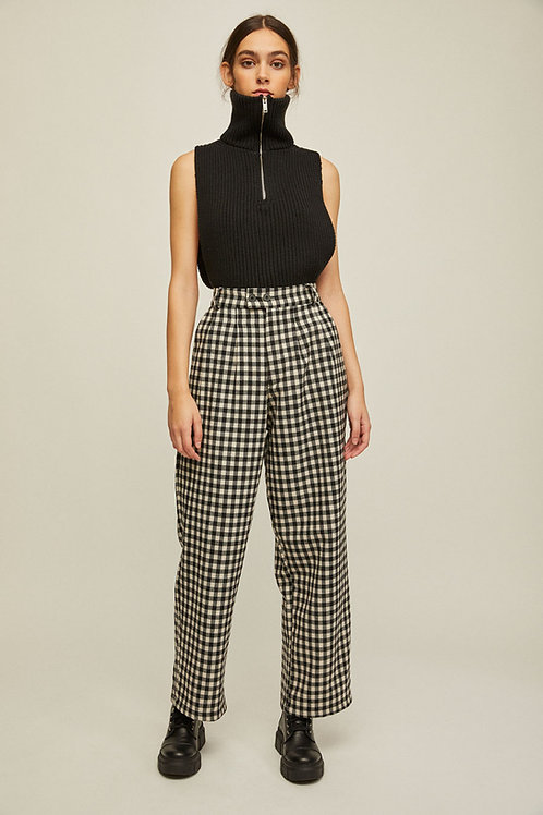 Rita Row - Nati High Waist Pants (Black Gingham)