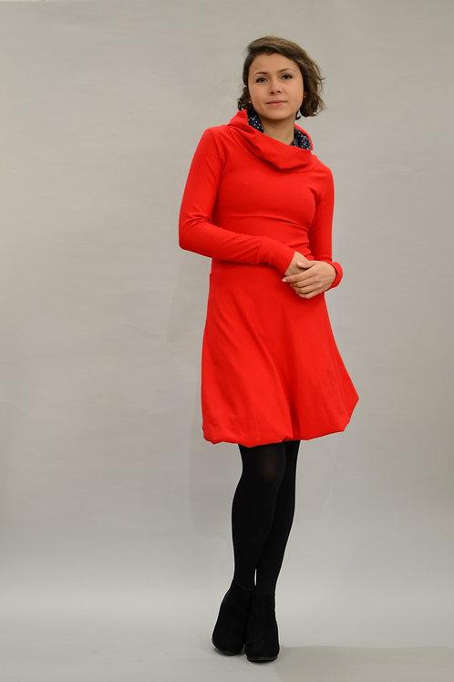 ManduTrap - Balloon Hoodie Dress (Red)