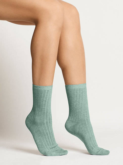 Woron - Organic Cotton Socks (Aqua Green)