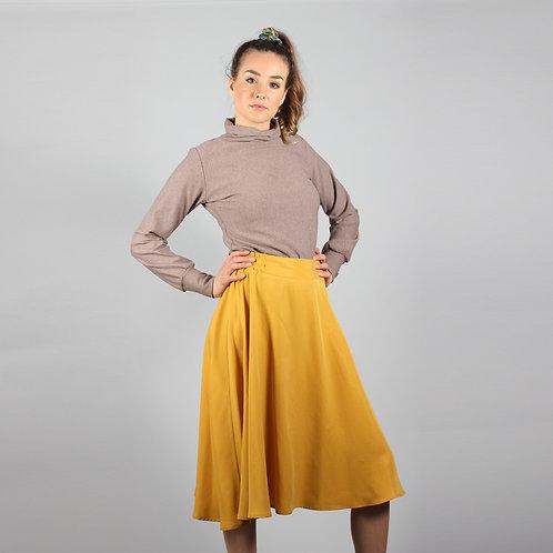 ManduTrap - Thara Tencel Pleated Skirt (Mustard Yellow)