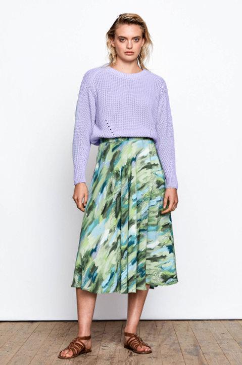 Maska - Onora Wide Printed Skirt
