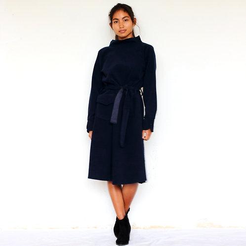 ManduTrap - Soma Corduroy Dress (Dark Blue)
