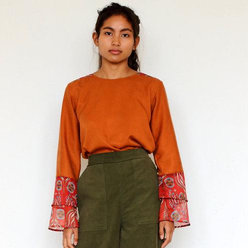 ManduTrap - Manja Tencel Shirt (Cognac)