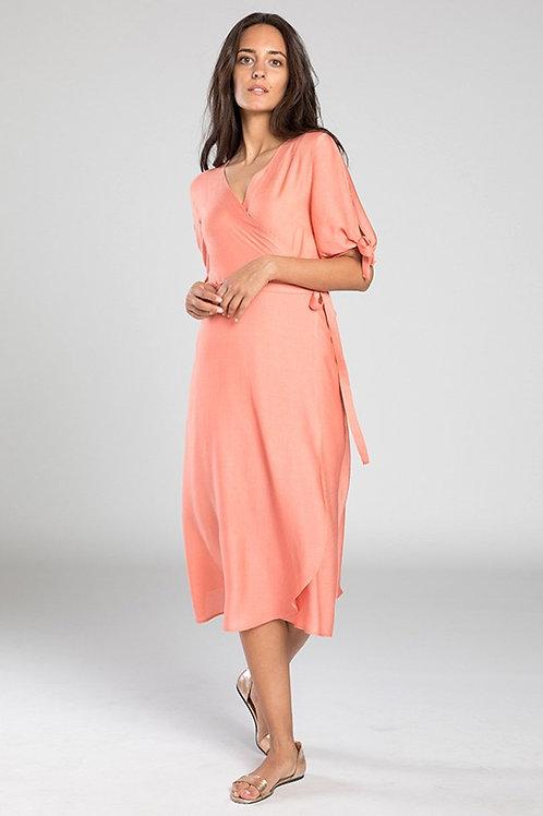 EYD -  Manala Wrap-Dress (Grapefruit)