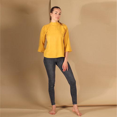 ManduTrap - Juma Tencel Shirt (Mustard Yellow)