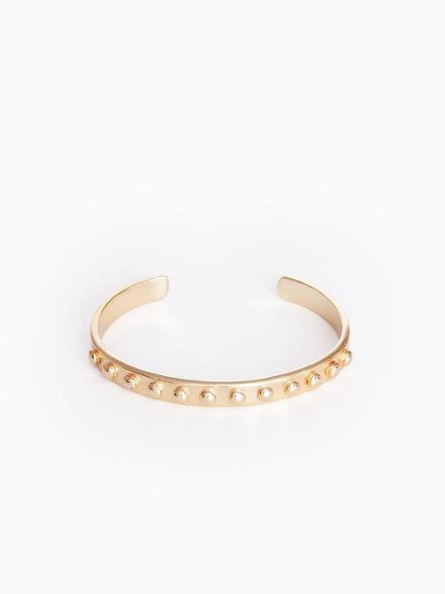 31 Bits - Dotted Pippa Cuff Bracelet (Gold)