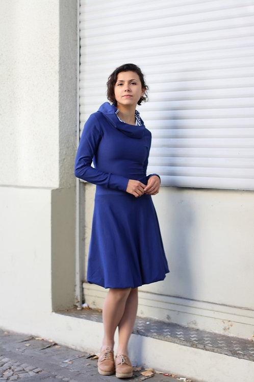 ManduTrap - Balloon Hoodie Dress (Marine Blue)
