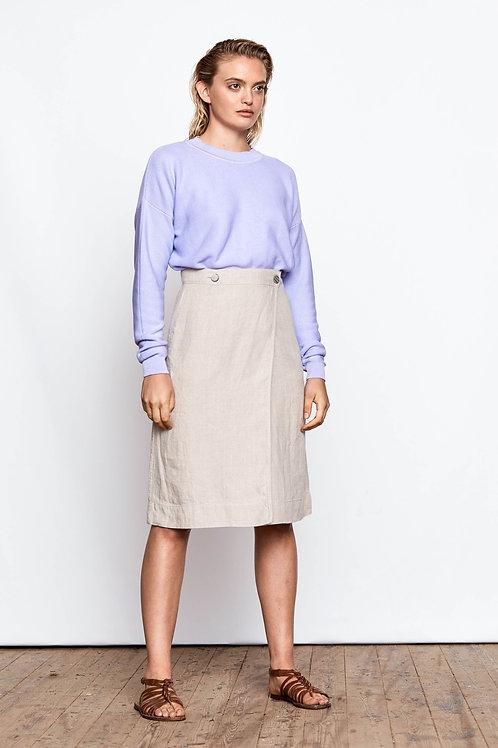 Maska - Sai Buttoned Wrap Skirt (Oat Beige)