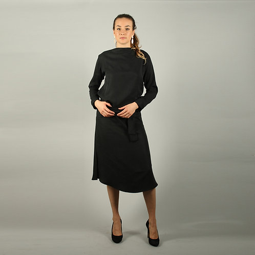 ManduTrap - Nyla Tencel Kleid (Schwarz)