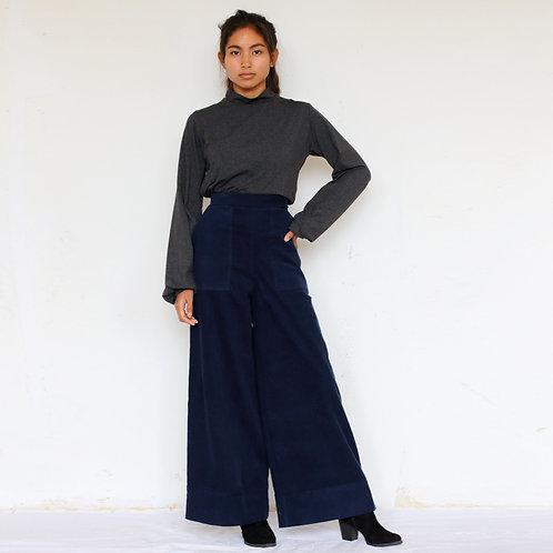 ManduTrap - Hana Corduroy Pants (Dark Blue)