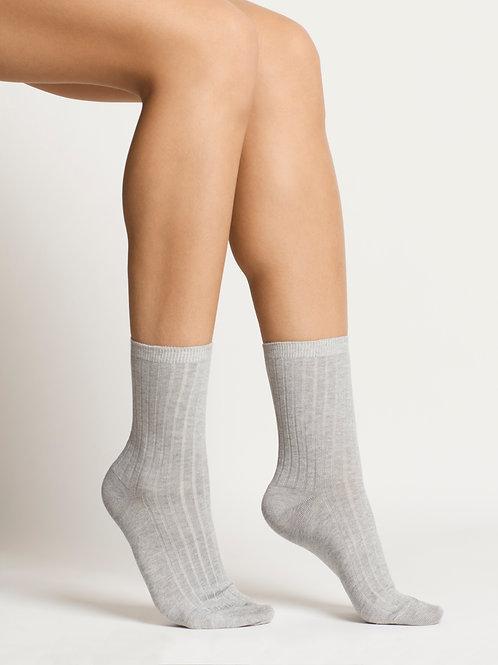 Woron - Organic Cotton Socks (Grey Melange)