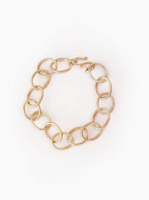 31 Bits - Interlocking Hoops Bracelet (Gold)