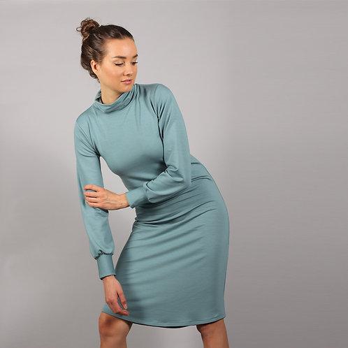 ManduTrap - Dewi Turtleneck Dress (Ice Blue)