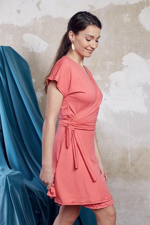 ManduTrap - Ann Wrap-Around Dress, Short (Pink)