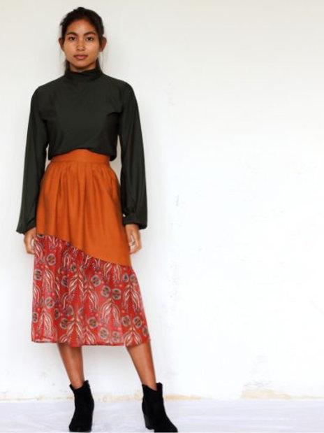 ManduTrap - Manja Tencel Skirt (Cognac)