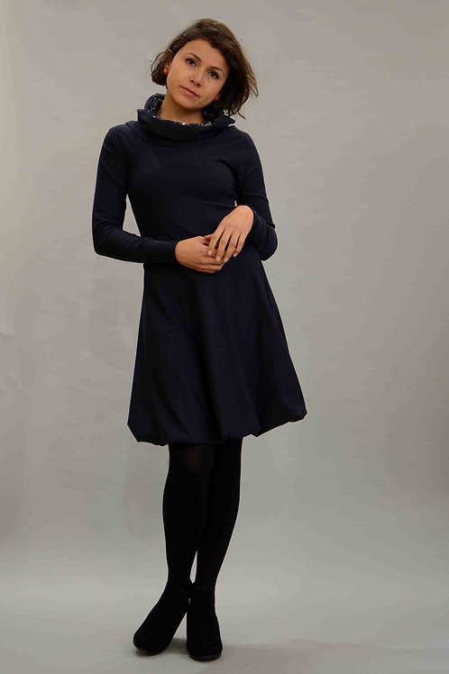 ManduTrap - Balloon Hoodie Dress (Dark Blue)