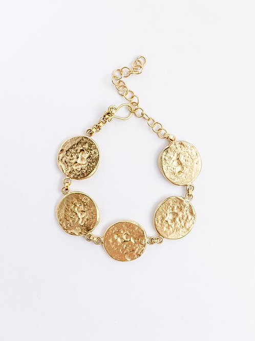 31 Bits - Connected Coin Armband (Gold)