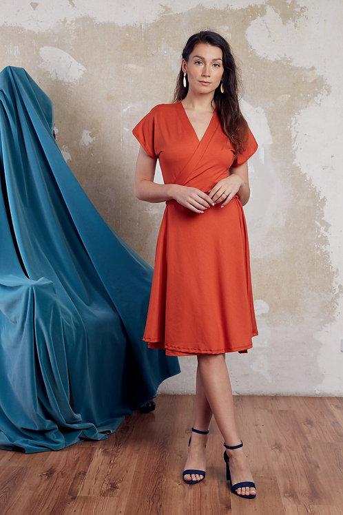 ManduTrap - Ann Wrap-Around Dress (Rust)