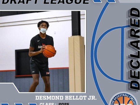 Desmond Bellot Jr. Declares for KB3 Draft