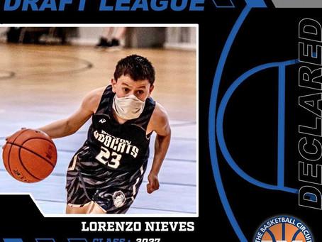 Lorenzo Nieves Declares for KB3 Draft