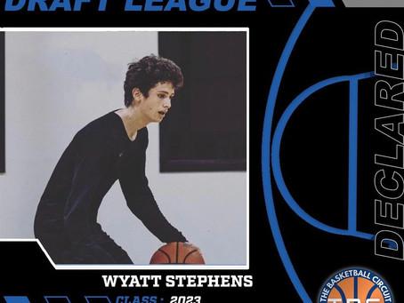 Wyatt Stephens Declares for KB3 Draft