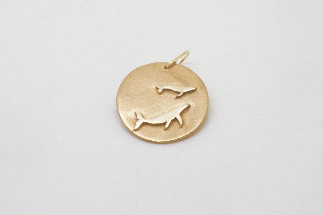 Baleines dorées (mono boucle)