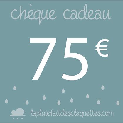 Bon de 75 euros