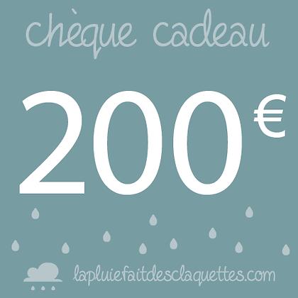 Bon de 200 euros