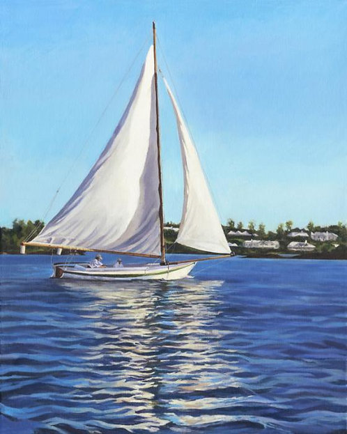 Afternoon Sailing Mini Print