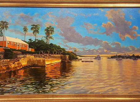 Sunset Over Darrel's Wharf just completed!