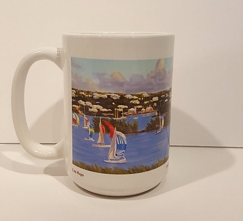 Downwind on Turquoise Mug