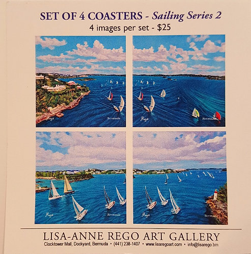 Bermuda Aerial I & II Set of 4