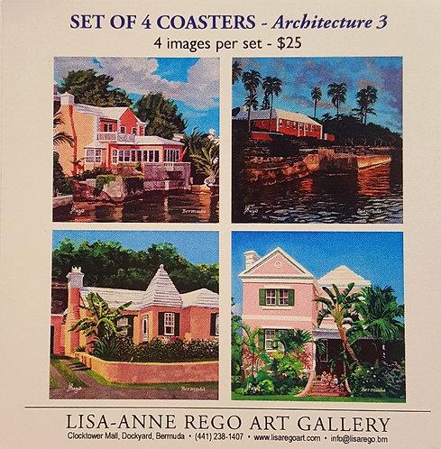 Pink Bermuda Homes Set of 4
