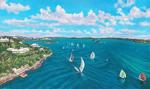 Bermuda Aerial II Poster