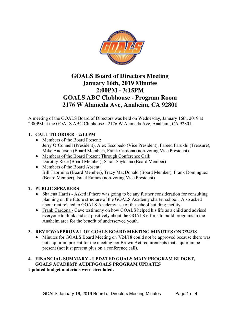 1_16_2019 GOALS Board Meeting Minutes-1.