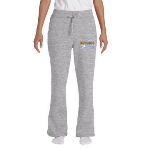 Gildan Women's Open-Bottom Sweatpants (small design)
