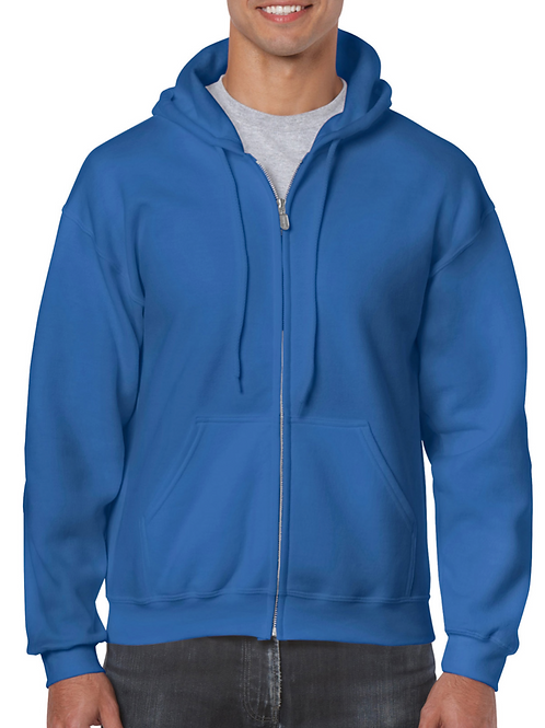 18600 Full Zip Hooded Sweatshirt (logo on the back)