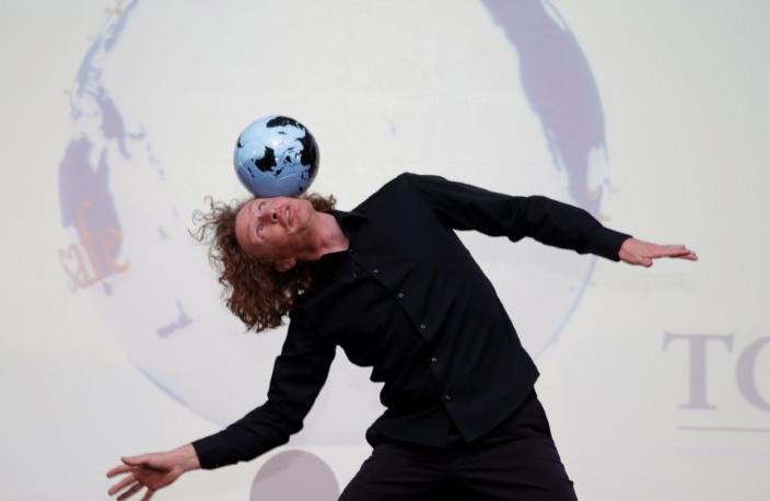 voetbal jongleur
