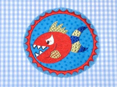 Piraten Monster Fisch Aufnäher