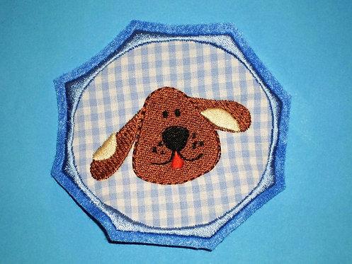 Hund Button Aufnäher