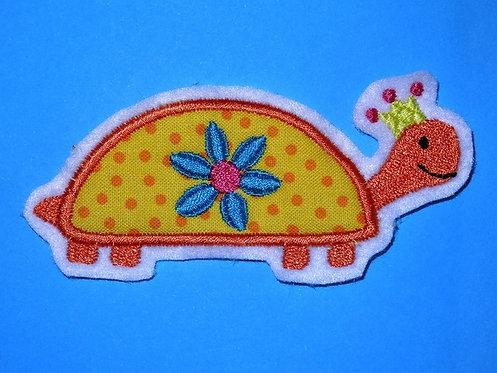 Schildkröten Aufnäher gelb orange