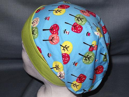 Beanie Baum bunt Mütze Handmade genäht Jersey Mädchen