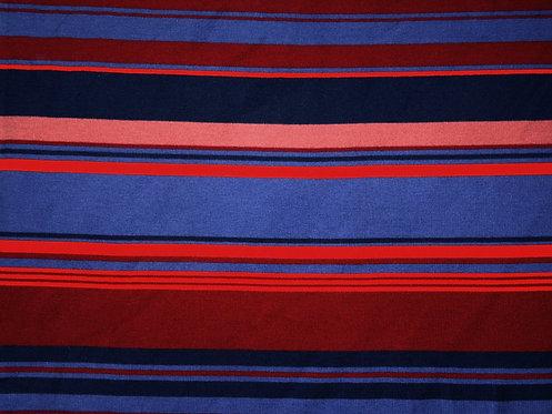 Milliblu´s Strick Streifen Baumwolle weich Jersey Meterware edel