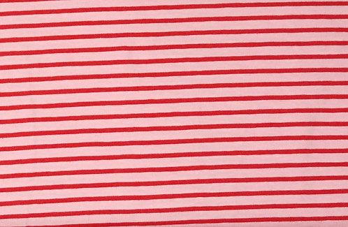 Campan Jersey Streifen rosa rot Meterware gestreift Ringel