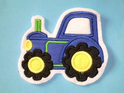 Traktor Aufnäher blau