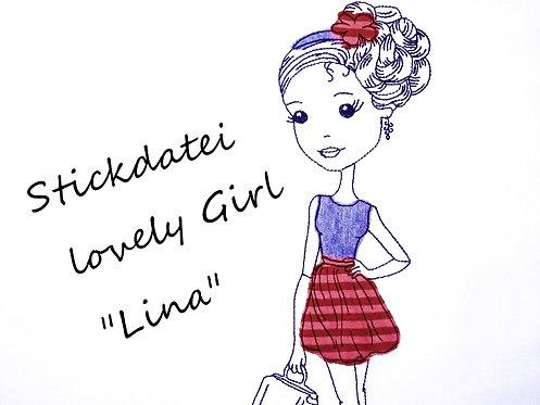 Mädchen Stickdatei ♥ sweet Girl ♥ Lina