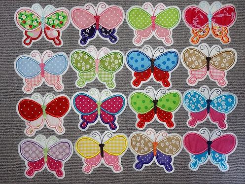 Schmetterling Aufnäher in 30 verschiedenen Farben