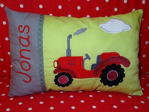 Traktor Stickdatei alle Größen inkl. Kissen ITH