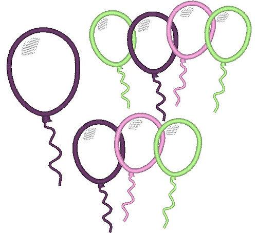 Stickdatei Luftballon